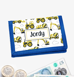 Personalised Digger Wallet