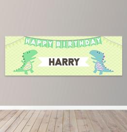 Personalised Unicorn Birthday Photo Upload Banner