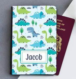 Personalised Dinosaur Passport Cover
