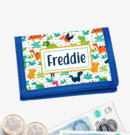 Personalised Dinosaur Colourful Money Wallet