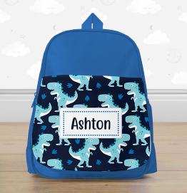 Personalised Colourful Dinosaur Mini Backpack