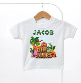 Personalised Dinosaur Kids T-Shirt