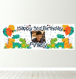 Personalised Dinosaur Party Banner