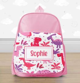 Personalised Dinosaurs Mini Backpack