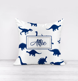 Personalised Dinosaur Pattern Cushion