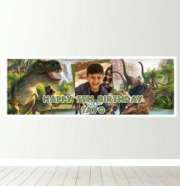 Personalised Dinosaur Banner
