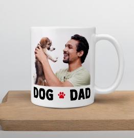 Personalised Dog Dad Photo Upload Mug