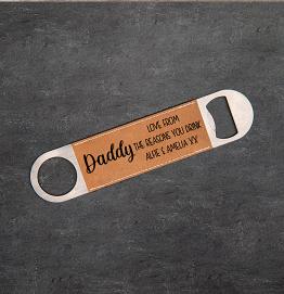 Personalised Daddy Reasons you drink Bottle Opener