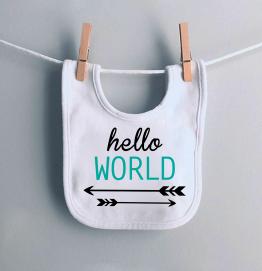 Hello World Baby Bib