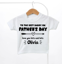 Personalised Best Daddy On Fathers Day Kids T-Shirt
