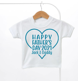 Personalised Our First Fathers Day Kids T-Shirt
