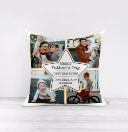 Personalised Happy Father's Day Photo Upload Cushion