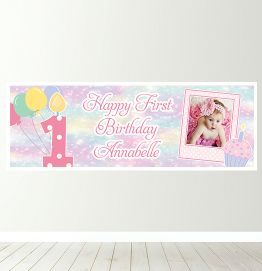 Personalised First Birthday Banner