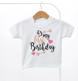 Its My Birthday Arrow Girls Kids T-Shirt