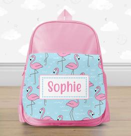 Personalised Flamingo Mini Backpack