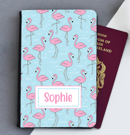 Personalised Flamingo Passport Cover