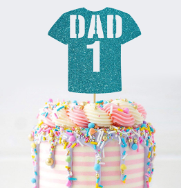 Happy Fathers Day Cake Topper Football Shirt