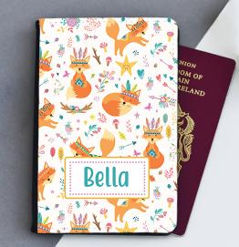 Personalised Fox Passport Cover