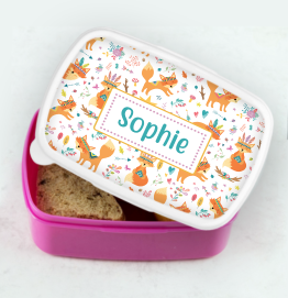 Personalised Colourful Dinosaur Lunch Box