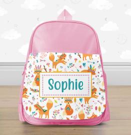 Personalised Fox Mini Backpack