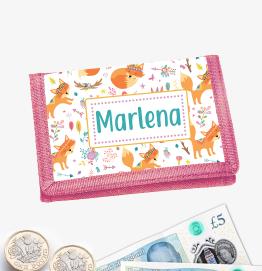 Personalised Fox Money Wallet