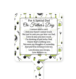 Personalised Gardening Fathers Day Memorial Stake