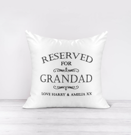Personalised Reserved For Grandad Cushion