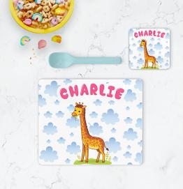Personalised Giraffe Placemat & Coaster
