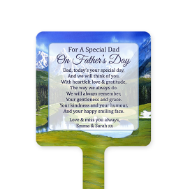 Personalised Golf Fathers Day Memorial Stake