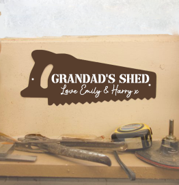 Personalised Grandad's Saw Shed Sign