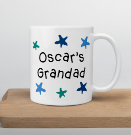 Personalised Grandad Star Mug
