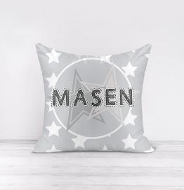 Personalised Grey Stars Cushion