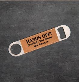 Personalised Hands Off Bottle Opener