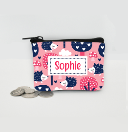 Personalised Hedgehog Coin Purse