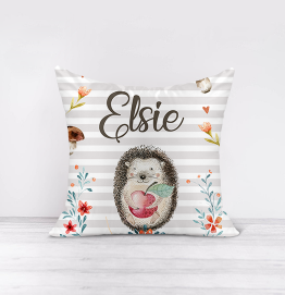 Personalised Hedgehog Cushion