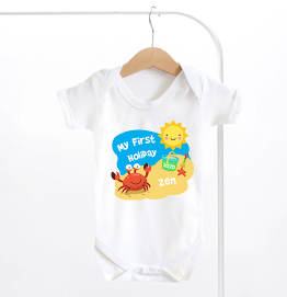 Personalised My First Holiday Baby Grow