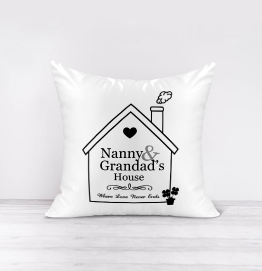 Nanny and Grandads House Cushion
