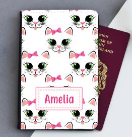 Personalised Kitty Cat Passport Cover