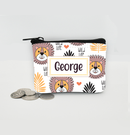 Personalised Lion Coin Purse