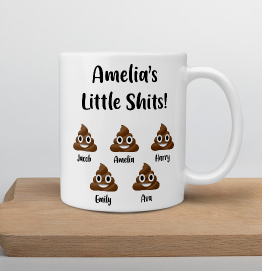 Personalised Little Shits Mug