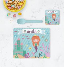 Personalised Mermaid Placemat & Coaster