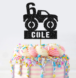 Personalised Monster Truck Cake Topper