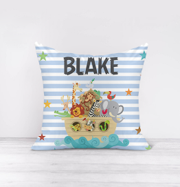 Personalised Noah's Ark Cushion