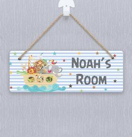Personalised Noah's Ark Door Hanger