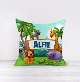 Personalised Zoo Safari Animals Cushion