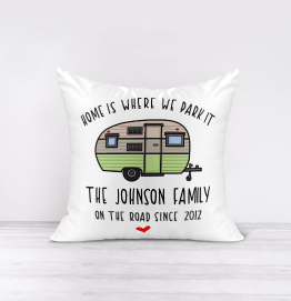Personalised Home Is Where We Park It Cushion