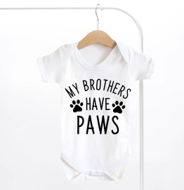 My Brothers Have Paws Baby Grow