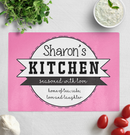 Personalised Seasoned With Love Chopping Board