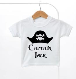 Personalised Pirate Kids T-Shirt