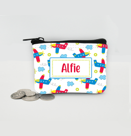 Personalised Aeroplanes Coin Purse